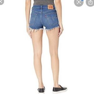 Levis high waisted jean shorts